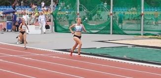 Złoty medal Mistrzostw Polski U18 w Lekkiej Atletyce Klaudii Pawlus