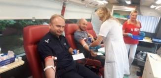 Wschowscy policjanci oddawali krew