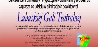 W Ciosańcu eliminacje powiatowe do Lubuskiej Gali Teatralnej
