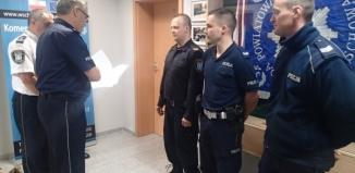 Doceniono wspólne działania straży miejskiej i policji