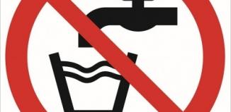 Uwaga! Woda niezdatna do picia