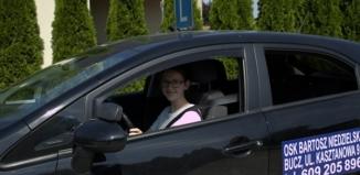 Uczniowie odbywają kurs prawa jazdy kat. B w ramach projektu współfinansowanego ze środków unijnych