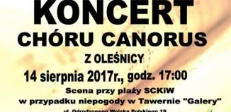 koncert chóru Canorus z Oleśnicy