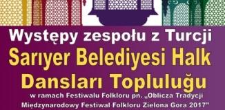 Występ zespołu z Turcji: Sarıyer Belediyesi Halk Dansları Topluluğu