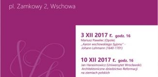 """Wykład w Muzeum Ziemi wschowskiej """"Architektoniczne dziedzictwo reformacji na ziemiach polskich"""